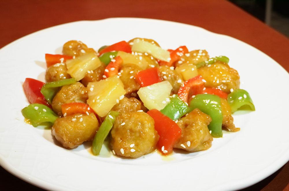 Cerdo salsa agridulce del restaurante china city