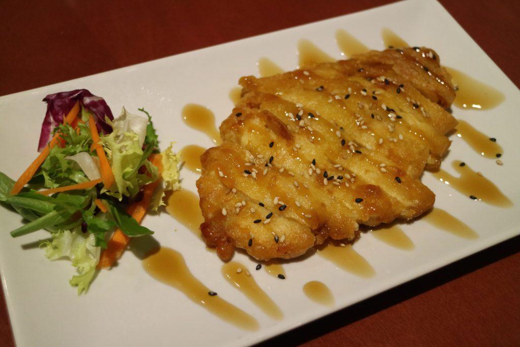 Pollo con salsa teriyaki restaurante china city