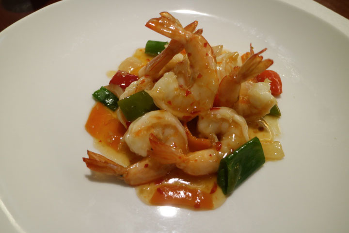 Gambas picantes del restaurante china city